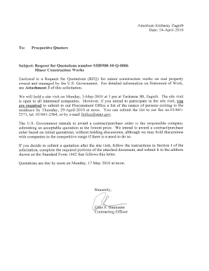 American Embassy Zagreb, Croatia STATEMENT OF WORK CMR ... - zagreb usembassy