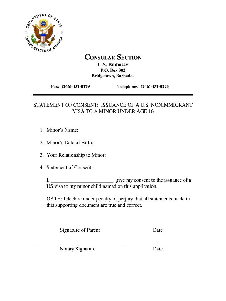 U S Embassy Barbados Fill Online Printable Fillable Blank Pdffiller