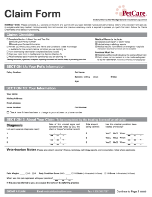 Petcare Form Fill Online Printable Fillable Blank Pdffiller