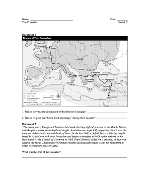 The Crusades Global Ii Fill Online Printable Fillable Blank