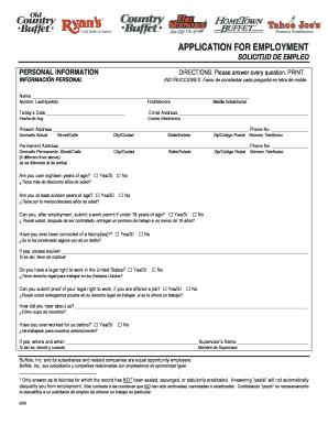 hometown buffet employee w2 online fill online printable rh pdffiller com hometown buffet application for employment hometown buffet application form