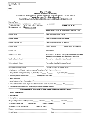 Toledo Rr Income Tax Form - Fill Online, Printable, Fillable ...