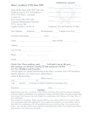 42606242 Vfw Membership Application Form on vietnam veterans of america membership, nra membership, golf membership, lions club membership,