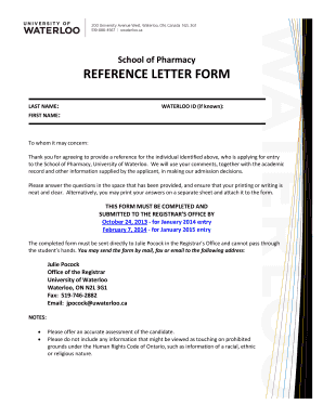 Fillable online pharmacy reference letter form university of fill online spiritdancerdesigns Images