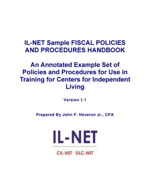 BILb-NET Sample Fiscal Policies Handbook - Independent Living bb - ilru