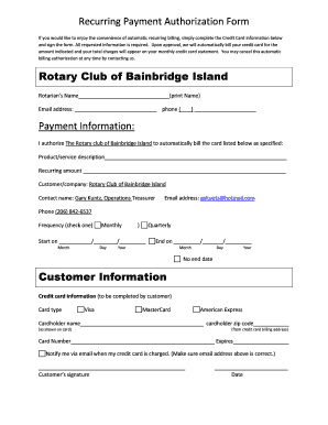 download recurring credit card authorization form pdf word