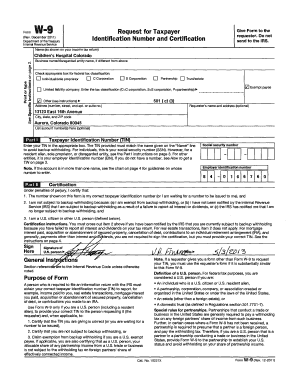 Fillable Online ucdenver Printable W-9 form - University of ...