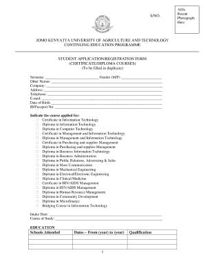Zetech University Application Form - Fill Online, Printable