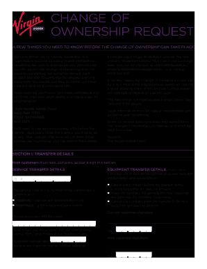 Change Of Ownership Form Virgin Mobile - Fill Online, Printable ...