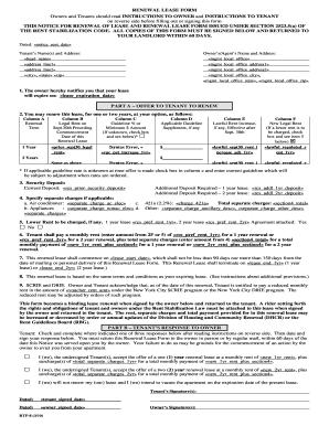 renewal lease form
