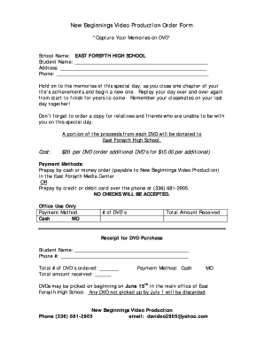 42776512 Video Production Order Form Template on ticket order form template, t shirt order form template, video schedule template,