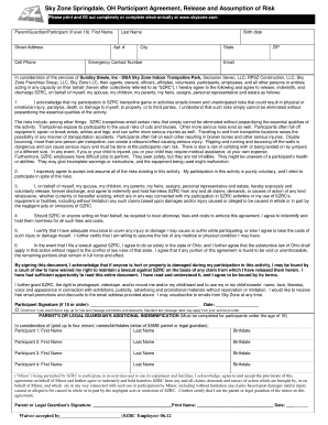 photograph about Skyzone Printable Waiver named Fillable On line royalredeemer SKYZONE Waiver Variety