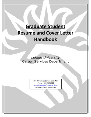 Graduate Student Resume and Cover Letter Handbook - Career ... - careerservices web lehigh