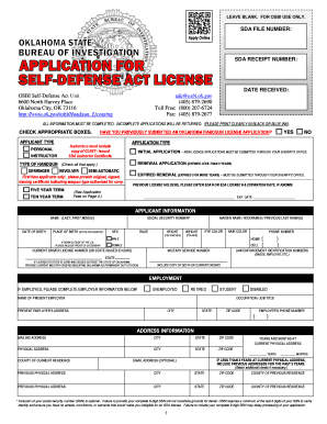 42090624 Oklahoma Concealed Carry Application Form To Print Out on