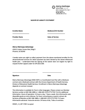 19 Printable Waiver Of Liability Statement Forms And