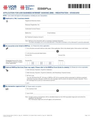 Fillable uob business internet banking - Edit, Print