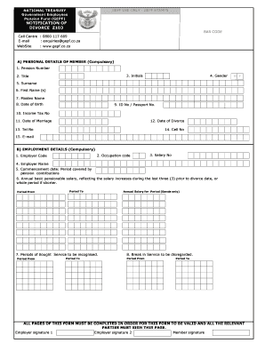17 Printable employee personal details form template south africa