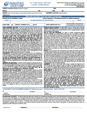 21 Printable Equipment Lease Agreement With Option To