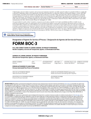Fillable Online fmcsa dot FMCSA Form BOC-3 - Federal Motor Carrier ...