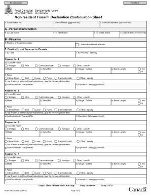 Fillable Online rcmp-grc gc RCMP GRC 5590e Non-Resident Firearm ...
