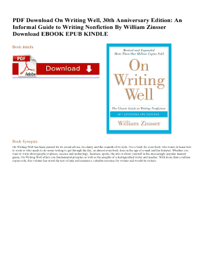 On Writing Well 30th Anniversary Edition Pdf