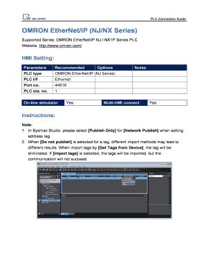 Fillable Online OMRON EtherNet/IP (NJ/NX Series) Fax Email Print