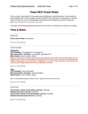 Printable Wordpress Template Tags Cheat Sheet Fill Out Download