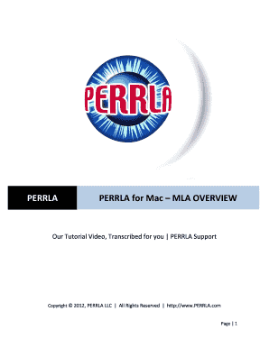 perrla for mac mla overview fill online printable fillable blank