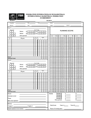 photo about Printable Basketball Score Sheet identify Umpire 2 Fill On-line, Printable, Fillable, Blank