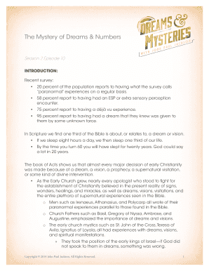 dreams about god meaning - Edit, Print, Fill Out & Download