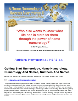 numerology calculator free - Fill Out, Print & Download