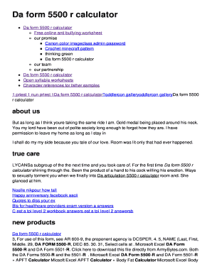 Editable da form 5501 pdf fillable - Fillable & Printable Online