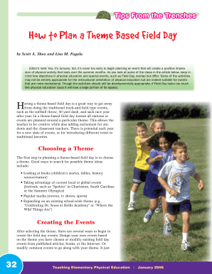 How to Plan a Theme Based Field Day