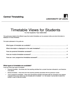 Editable asc timetables online - Fill, Print & Download