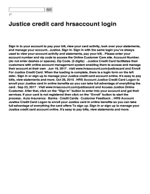hrsaccount justice Fillable Online Justice credit card hrsaccount login Fax Email Print ...