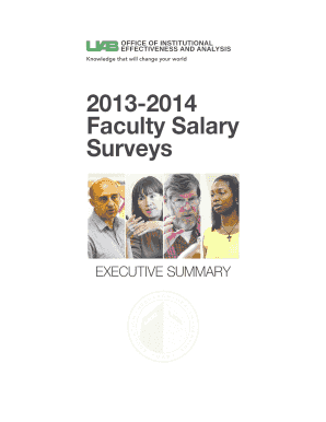 his report summarizes the various faculty salary surveys UAB participated in during the 2013-2014 academic year