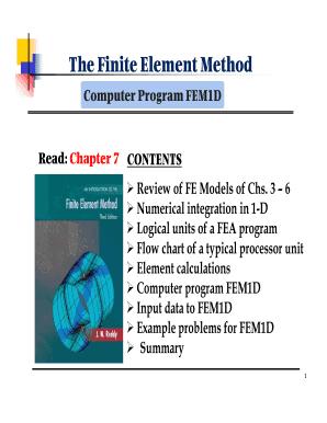Finite Element Method 1d Example