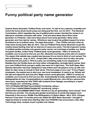 funny political party name generator fill online printable