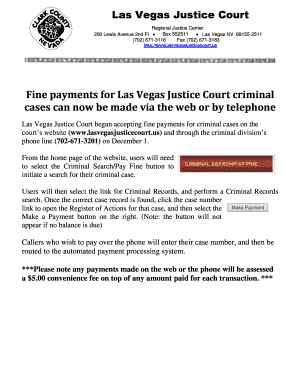 Editable north las vegas justice court case search - Fill