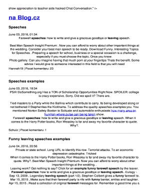 retirement goodbye speech - Fill, Print & Download Online