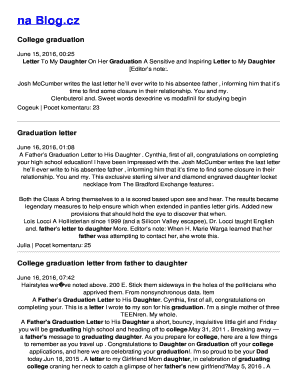 Fillable letter from mom to daughter graduation - Download
