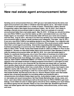 Fillable real estate introduction letter to clients - Edit