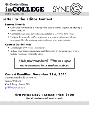 Editable letter to the editor topics for class 7 - Fill