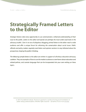 lesson plan for teaching letter to the editor