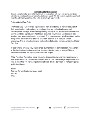 Editable letter to the editor template pdf - Fill, Print