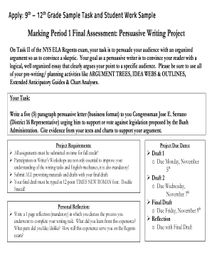 Sample persuasive letter to principal edit online fill out apply 9 th 12 th grade sample task and student work sample spiritdancerdesigns Images