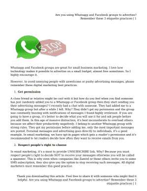 Fillable whatsapp group etiquette - Edit Online, Print & Download