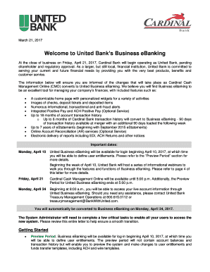 welcome letter format for new customers welcome to united banks business ebanking