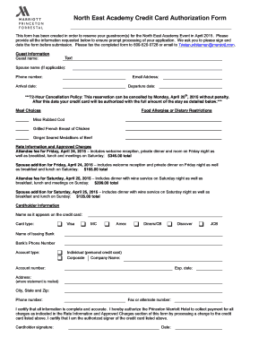 credit card authorization form canada