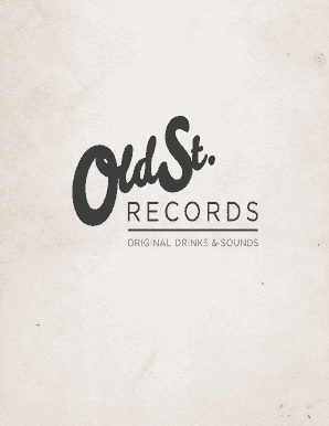 WELCOME TO OLD STREET RECORDS